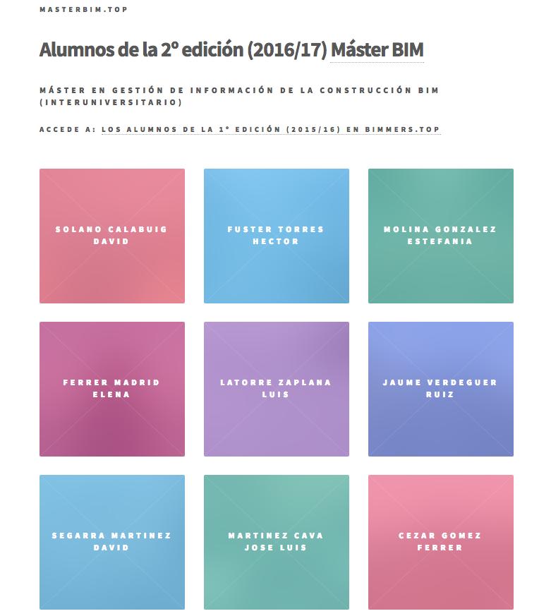 Alumnos del 2º Master BIM de la UPV - MÁSTER EN GESTIÓN DE INFORMACIÓN DE LA CONSTRUCCIÓN BIM (INTERUNIVERSITARIO) - www.masterbim.top